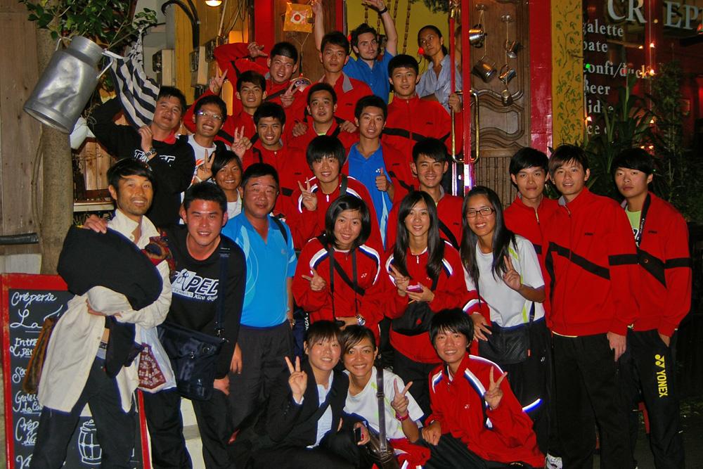 王座戦交流会での台湾チーム